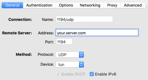 OpenVPN Settings - General