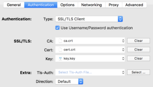 OpenVPN Settings - Authentication
